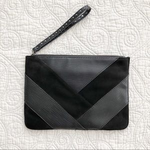 Chico's Black Edgy Wristlet Clutch